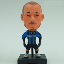 New KODOTO SoccerWe Inter IM Wesley Sneijder Football Soccer Moving Movable Player Star Display Collection Dolls Toys(China)