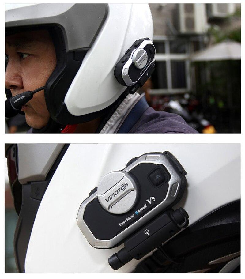 Multi-functional Vimoto Motorcycle Helmet Bluetooth Intercom Headset Motorbike BT Motorcycle Helmet V8 Bluetooth Intercom