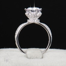2016 New Fashion Classic Soild 925 Sterling silver wedding Ring CZ Ziron Jewelry party engagement brand Rings for women Gift