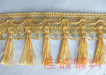 3yards Gold/silver Tassel Lace Fringe Trimming Macrame Cannetille Lace Clothing Curtain Accessories Diy decor 5.5cm