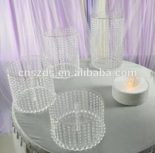 "3pcs/set Birthday Home Decoration Crystal transparent acrylic cake stand Height 5.9"" ~ 17.7"" Small cake holder"