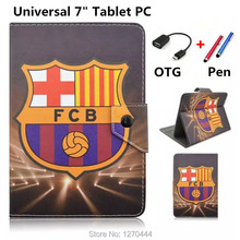 "For 7 smart case with Football giants pattern Universal 7"" 7.0 inch Tablet Soft PU Leather Case Cover For Kids 7 inch tablet PC"