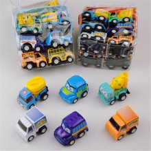 wholesale 6/Set bag Pull Back Inertial Car Plastic Mini Truck Set Garbage Children's Toys Car Fun Favorites Birthday Present