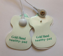 Wholesale - 100PCS English Gold Hand Health-Pad TENS Electrode Pads For electro stimulator /acupuncture apparatus