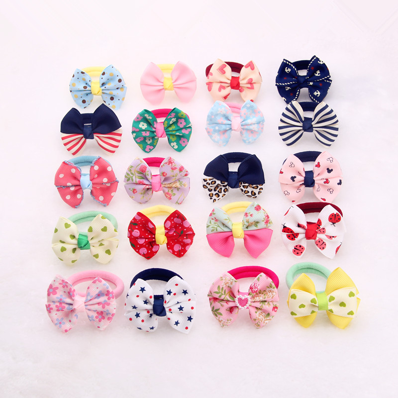 High Ribbon Bows Hair Gum Hair Accessories Headwear Hair Bows Girl Rubber Band Elastic Bands