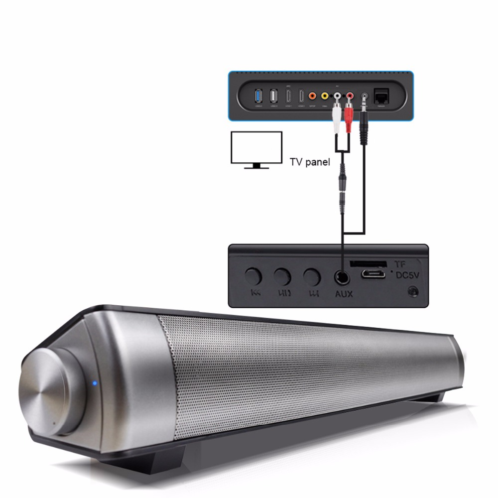 SOONHUA Bluetooth Wireless Speaker Stereo Surround Super Bass Loudspeaker Support Bluetooth TF AUX for Smart Phone Tablet