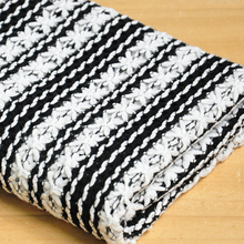 Free ship black and white weaved sweater tissue fabric  price for 140cm*50cm