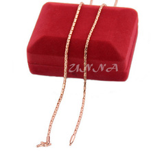 2mm Unisex Man Woman Rose Gold Color Filled Link Chain Necklace Party Jewelry Wholesale Retails(China)