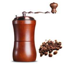 Hot Sale High Quality Retro design Mini Manual Coffee Mill Wooden Antique Hand Coffee Bean Grinders As a Gift