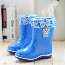 Free shipping Children's Rain Boots cute cartoon Boys and Girls slip Baby shoes, overshoes Water shoes for Children Rubber Shoes