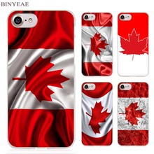 BINYEAE Canada Flag Clear Cell Phone Case Cover for Apple iPhone 4 4s 5 5s SE 5c 6 6s 7 Plus
