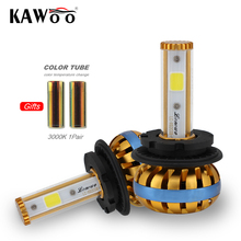 KAWOO D1 D3 LED Headlight Kits Car Bulbs Single Beam 8000LM/pair 6500K Auto Led Head Lamp Fog Lights DIY color lights