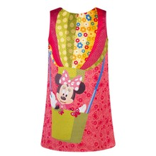 Cartoon Knee Minnie Mouse Dress Baby Girl Minnie Dress Kid Kitty Cat Party Dresses Summer Dress Vestido Minnie Robe Fille Enfant