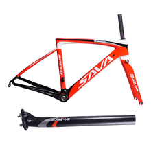 SAVA High Quality T800 Carbon 700C Road Bike Frame 1050g Racing Road Bicycle Frame 48cm 50cm 52cm with Carbon Fork + Seatpost(China)