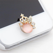 Binmer Hot Selling 3D Crystal Bling Diamond Home Button Sticker For iPhone   Drop Shipping Wholesale MotherLander