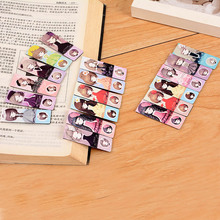 6 pcs/lot Cute Kawaii Girls Paper Bookmark Creative Noctilucent Magnetic Bookmark School Supplies Free Shipping 2451