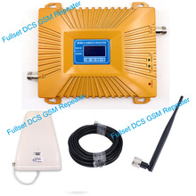 Full kit GSM 900/1800 Mhz dual band 2g 4g lte mobile signal booster cell phone GSM DCS amplifier with indoor outdoor antenna