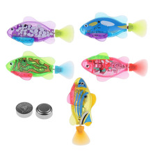 1Pcs Swimming Robot Fish Activated in Water Magical Electronic Toy Children Gift