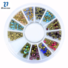 Blueness Mixed Glitter Adhesive New Arrive Nail Art Decorations Crystal Colorful Rhinestones For Nail Design Rhinestone ZP191