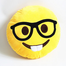 32cm Top Quality Funny Emoji Cushion Cute Teeth Emoticon Pillow For Car Plush Toy Smiley Pillows Christmas Gift