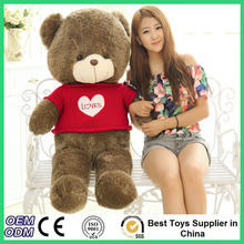 2016 New Movie Ted 2 Plush Toy 60cm Big Teddy Bear With Lovely Sweater Soft Giant Stuffed Ted Bear Plush Dolls Free Shipping
