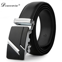 leather strap male automatic buckle belts for men authentic girdle trend men's belts ceinture Fashion designer jean belt(China)