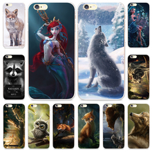 Daughter of Sea Pattern Phone Case for iPhone 7 Back Cover Cute Animals Printing for iPhone 4 4S 5S SE 5C 6 6S Plus 7 Plus Cases(China)