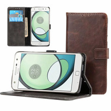New Fashion PU Leather Wallet Case Flip Magnetic Cover for Motorola MOTO Z Play Mobile Phone Bag Cover Cases with Card Slots(China)