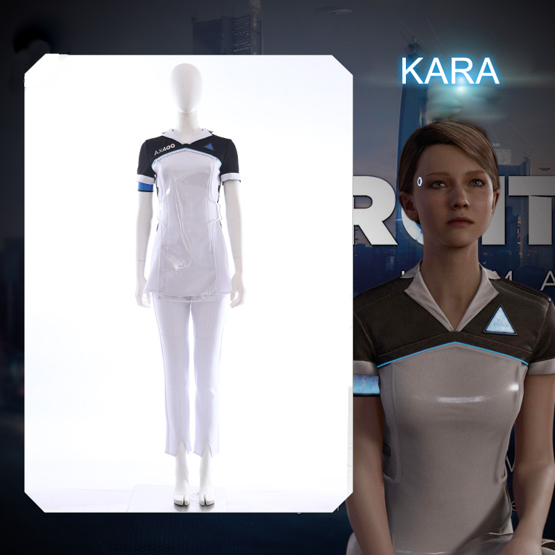 Game Detroit: Become Human KARA RK400 Upgrade Agent Suit Uniform Tight Unifrom Cosplay Costume for Halloween