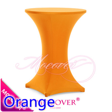 Orange colour Spandex table cover cocktail table cloth lycra high bar table cover wedding party and hotel table decoration