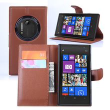 Cyboris Brand For Nokia Lumia 1020 Case for Nokia 1020 Leather Cover Wallet Style Case With stand and Card Holder Phone Bag(China)