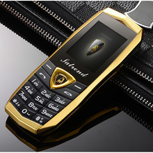 Luxury Metal Body A18 Vibration Car Logo Dual Sim Cards Mp3 Mp4 Mobile Cell Phones With Free Leather Case Kuh(China)