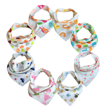 Free Shipping 10pc/lot Baby Bibs  100% Cotton Triangle Head Scarf Boy Kerchief Girl Babador Bandana Dribble Bib