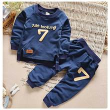 Buy New 2017 Children Casual Clothes Sets Print Letter Boys Girls Cotton Outfits Kids Cotton Clothing Sets Spring Autumn CC842-CGR1 for $9.44 in AliExpress store