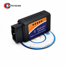 1pc automotive grade plastic  ELM327 Bluetooth  OBDII Auto Scanner Adapter Scan Tool