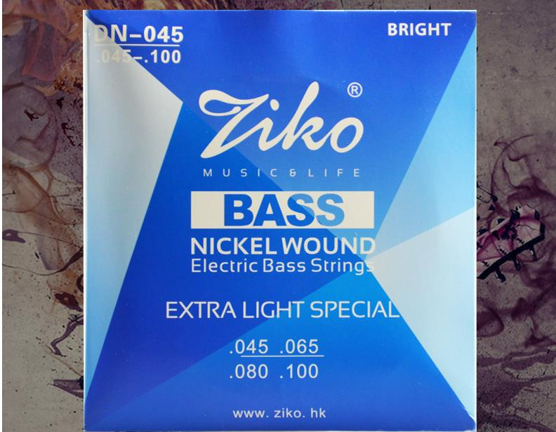 Ziko DN-045 Nickel Plated Steel Alloy High Quality Hexangular Bass Guitar String Stainless Antirust Coating<br><br>Aliexpress