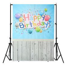 3x5ft Vinyl Photography Background For Studio Photo Props Birthday Blue Wood Floor Photographic Backdrops cloth