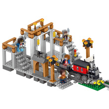 LELE My World Power Morse Train Building Blocks Kits Classic Educational Children Toys Compatible LegoINGlys Minecrafter 541 Pcs