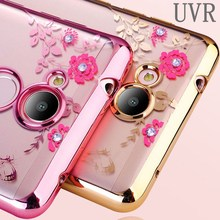 Buy UVR Huawei Honor V9 Play Case Glitter Flower Bling Diamond Soft TPU Clear Bumper Back Honor 6C Pro Silicone Phone Cover for $1.89 in AliExpress store