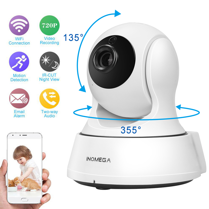 INQMEGA 720P Security baby monitor IP Camera WiFi Home Security CCTV Camera with Night Vision Two Way Audio P2P Remote View<br>