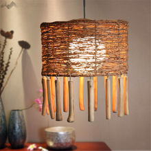 LFH  New creative Rattan bamboo pendant lamps handmade Southeast Asian restaurant living room cafe  authentic   pendant lamps