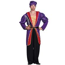 Men Maharaja Sultan Costume Great Ruler King Indian Empire Carnival Adult Male Outfits Fancy Dress Clothing Halloween Costumes(China)