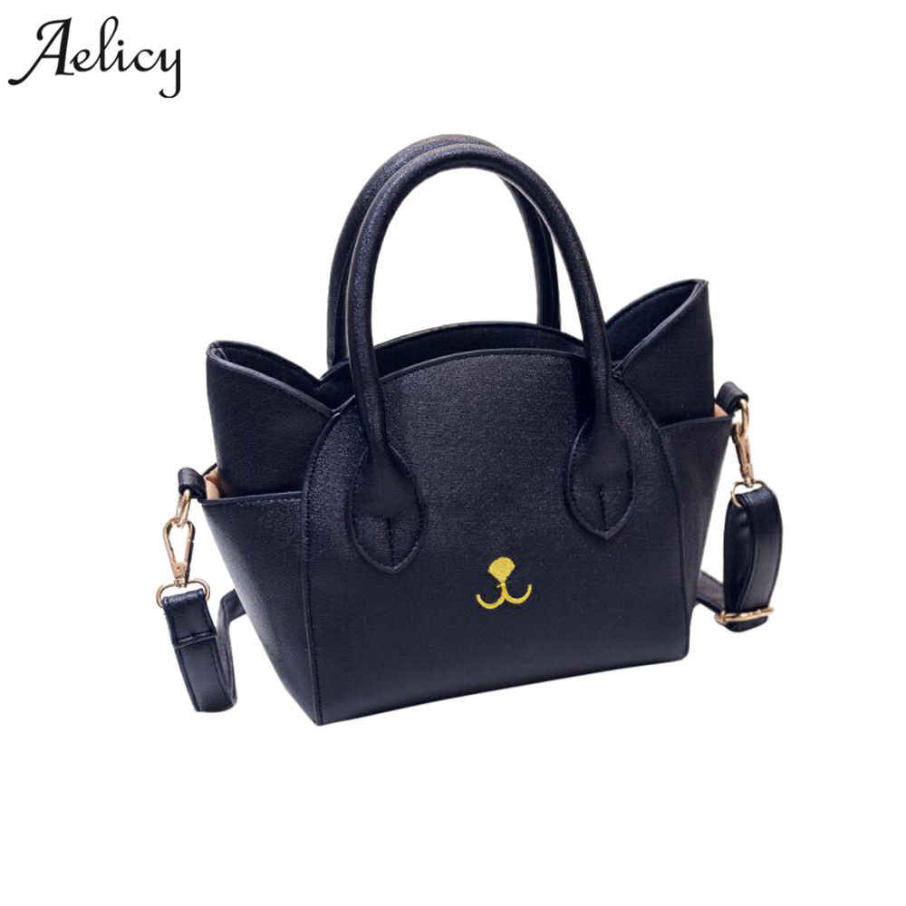 196d54a768 Aelicy pu leather women cat face shoulder bags 2019 new design fake  designer handbags crossbody bags