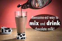 Free Shipping 4Pieces The Skinny Moo Mixer Battery Chocolate Milk Mixer Cup Automatic Cow Mug Shaker Blender