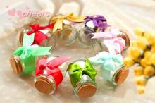 50 pcs/lot Wedding favor pudding bottle wedding candies bottle glass bottle specify the color need to note Wholesale