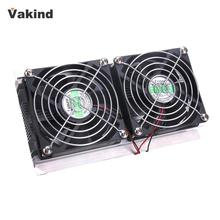 Thermoelectric Peltier Refrigeration Cooling System Kit Cooler 2 x Double Fan DIY Computer Components New(China)
