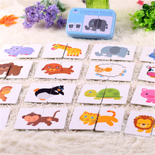 New Arrival Baby Toys Puzzle Infant Early Training Cognitive Card Vehicl fruit Vegetable Animal Life Set Pair Jigsaw Toy gifts(China)