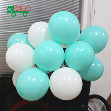 SL3300 10 Inch 2.3g 40pc Mint Green Blue Balloons Party Supplies Wedding Decoration Party Globe Birthday Air Balloons White Ball(China)