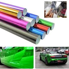 Fashion Car Vehicle Sticker Color Change Vinyl Wrapping Plating Chrome Film Waterproof(China)