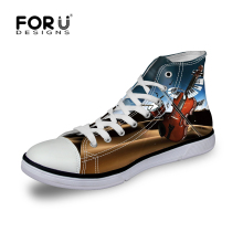FORUDESIGNS Fashion Print Women High Top Canvas Shoes,Musical Instruments Casual Shoes for Ladies Walking Shoes tenis feminino
